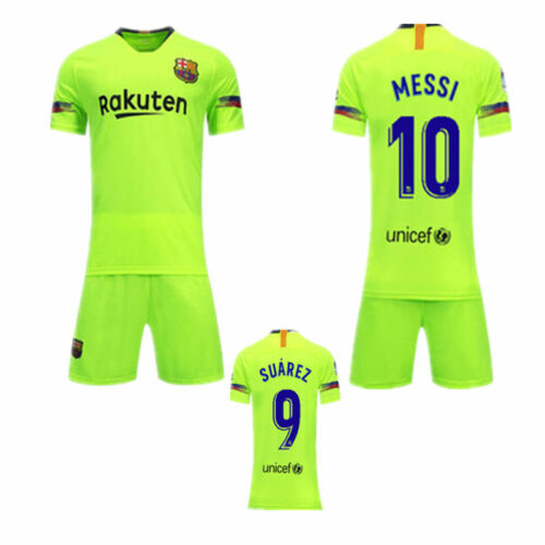 18//19 New Kids Boy Football Jersey Kit Soccer Wears Short Sleeve Shirt Socks UK