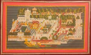 Hand-Painted-JagMandir-Udaipur-Miniature-Painting-India-Artwork-Handmade