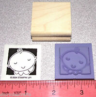 Stampin Up Baby Face Stamp Single Occasionally With A Solid Background