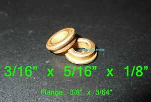 3/16 x 5/16 x 1/8 ~ Flanged Oilite Bronze Bushing Bearing Spacers ~ Free Ship!