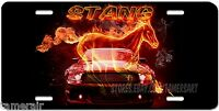 Mustang stang Fire And Horse License Plate, Personalized, Made In Usa