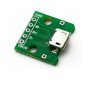 5pcs-MICRO-USB-to-DIP-Adapter-5pin-female-connector-B-type-pcb-converter