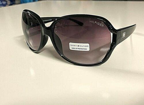 New TOMMY HILFIGER Women/'s Designer Sunglasses Black Frame Gradient Lens
