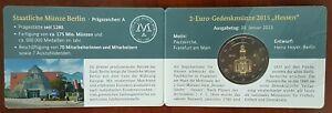 coincard 2 euro commémorative ALLEMAGNE 2015 Hessen officiel - atelier A Berlin