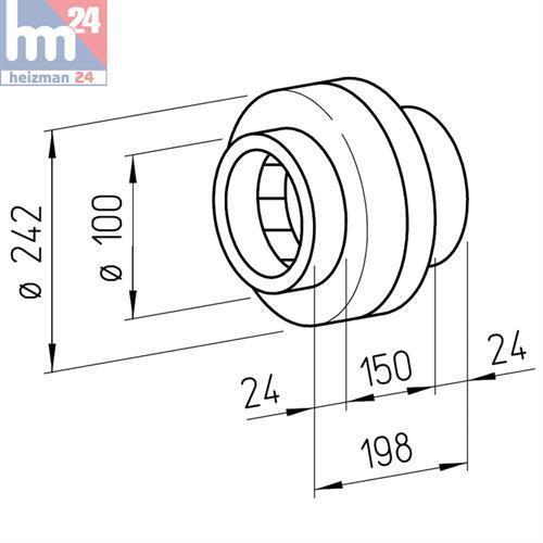 Helios Radial-Rohrventilator InlineVent RR 100 A 5653 oder oder oder RR 100 C 5654     | Economy  | Umweltfreundlich  | Schöne Farbe  cd32af