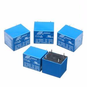 5Pcs-SRD-12VDC-SL-C-10A-5-Pins-RELAY-12V-DC-Coil-Power-Relay-PCB-Module-Set