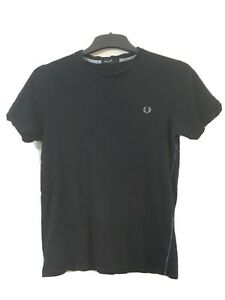 Fred-Perry-Mens-Navy-Blue-Cotton-Short-Sleeve-T-Shirt-S-D98