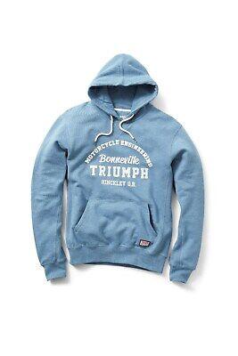 Triumph Men/'s Horizontal Motorcycle Hooded Fleece Sweatshirt