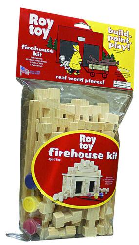 item #20114 Roy Toy Build /& Paint Firehouse Building Set