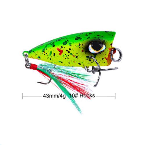 4.3cm//4g mini popper lure trout lure ultralight fishing lure topwater'Crankba ON