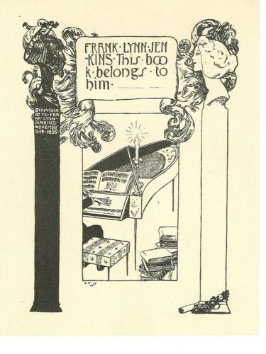 1895. EX-LIBRIS de Frank Lynn JENKINS par Byam SHAW