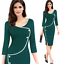 New-Fashion-Women-Back-Zipper-Formal-Office-Ladies-Wear-To-Work-Pencil-Dresses thumbnail 13