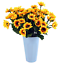 Sunflowers Silk Artificial Flowers Floral Decor Bouquet Small Head 10 Bunches