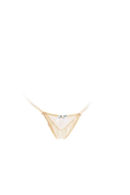 8938ff56d99 L Agent by Agent Provocateur Women s New Elegant Thong Ivory RRP £30 BCF87