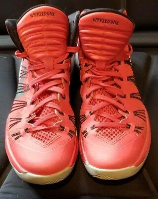 0eb8b1e2fbd Mens Nike Hyperdunk 2013 Red Black 599537-600 Shoe Size US 7 EUR 40 ...