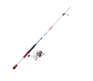 Shakespeare Ugly Stik Red and White Spinning Reel and Fishing Rod Combo