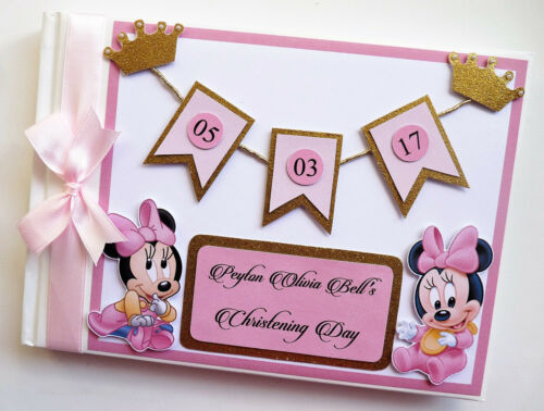 SCRAPBOOK BABY SHOWER GUEST BOOK ANY DESIGN BAMBI BIRTHDAY