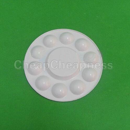 Artist Painting Pallet Plastic Round Palette Paint Wholesale Crafts Art Suppl OP