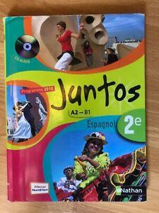 Details Sur Livre Espagnol Juntos Seconde Niveau A2 B1