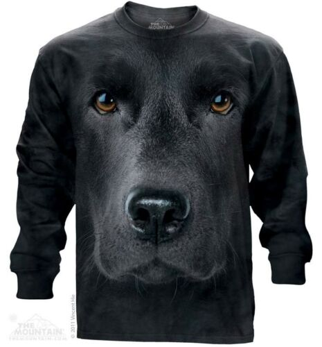 New The Mountain Black Lab Face Long Sleeve T Shirt