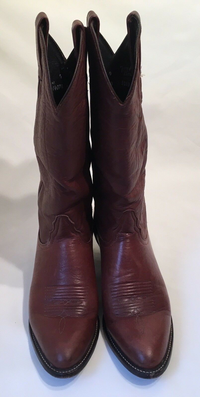Tony Lama Style 1013 L Braun Calf Leder Cowboy Stiefel in Damenschuhe 6 1/2 M - EXCEL