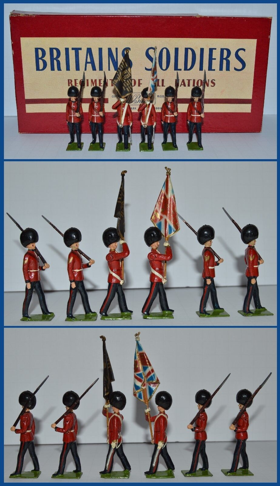 Britains Britains Set  2084 Colour Party Scots Guards  CX-1010