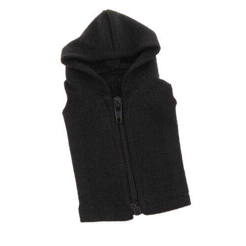 1//6 Scale Fashion Casual Hooded Waistcoat Colth Material for 12/'/' Hot Toys