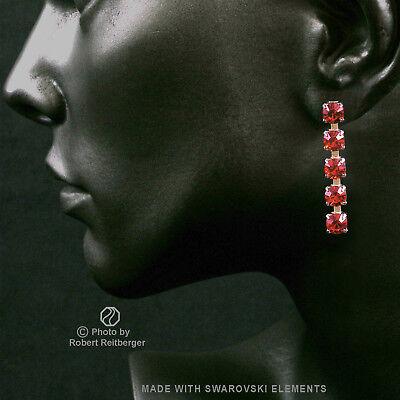 Siam Hell 10mm Ohrring mit Swarovski Elements Farbe Rot