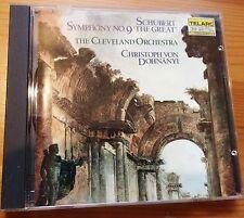Schubert Symphony No 9 CD - Telarc 1985 - Dohnanyi - Japan press - No Barcode