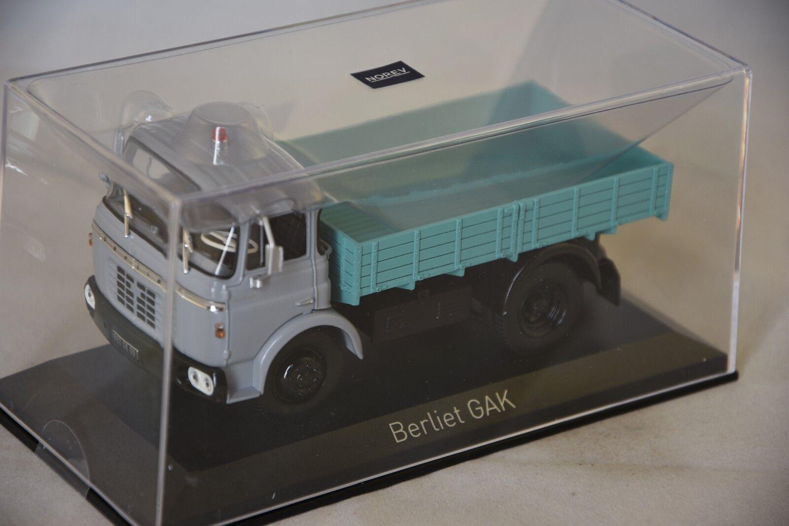 Norev 690000-berliet gak tipper 1960 grey 1 43