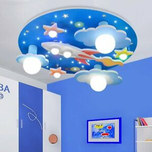 Led Modern Children S Ceiling Lamp Remote Cartoon Kids Bedroom Lighting Light Ebay