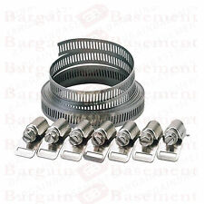 8pz Tubo Clip Set facile trasformare 2 Taglie giubileo tipo clamp Tubo Acciaio Inox
