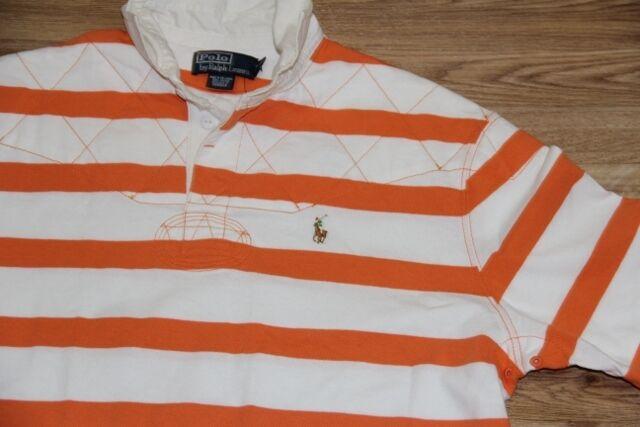 Ralph Lauren Men orange Stripe Shirt Small Pony Small   Classic Fit