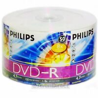 200 Philips 8x Silver Logo Dvd-r Dvdr Tape Wrapped [free Priority Mail]