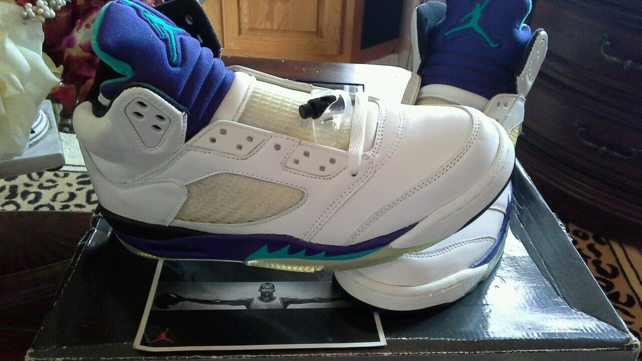Air Jordan 5 Retro OG 2006 WHITE BLACK GRAPES NWDS 2018