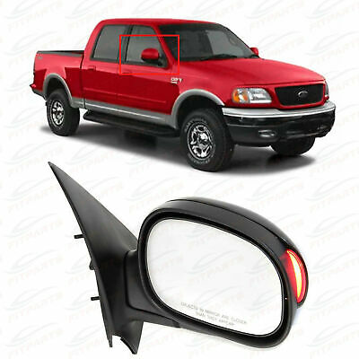 Mirror for F-150 00-01 Right Side Pwr Man Fldg Non-Heated W//Signal Light In Housing Chrome Kool Vue FD92CR