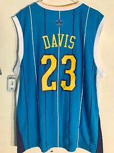 new product d5db2 28b03 Details about Adidas NBA Jersey New Orleans Hornets Anthony Davis Teal sz L  PELICANS