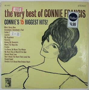 CONNIE FRANCIS The Very Best Of Connie Francis LP 1963 POP VOCAL NM- NM-