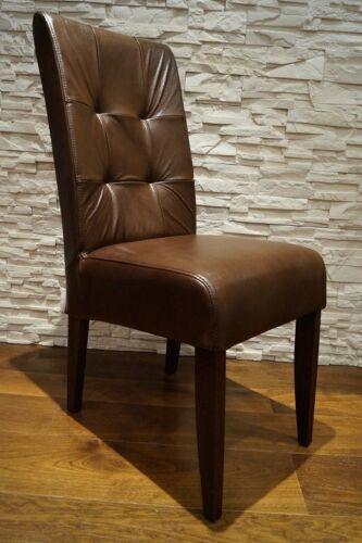 100% Echtleder Stuhl Echt Leder stühle Esszimmer Lederstühle Große Farbauswahl