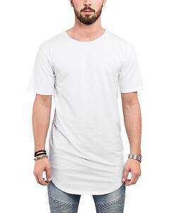 778dd83fbece7f Das Bild wird geladen Blackskies-Round-Longshirt-T-Shirt-Weiss-Long-Basic-