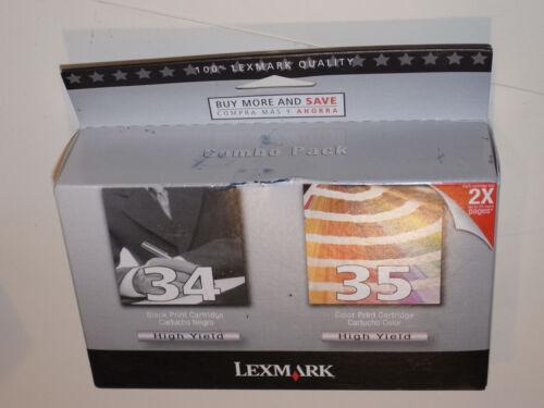18C0535 NEW HIGH-YIELD GENUINE LEXMARK 34 45 BLACK /& COLOR INK CARTRIDGES