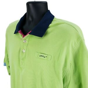 ORVIS-Men-039-s-L-Large-Knit-Polo-Shirt-Casual-Short-Sleeve-Green-Blue-Pink-Cotton