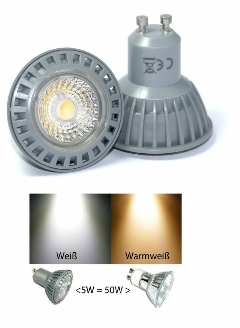 10er set dimmbare emisor LED emisor dimmbare de instalación bajo k9451 230v gu10 & 5w LED-spot regulable feebde