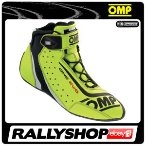 FIA OMP ONE EVO  Fahrerschuh Fahr Rennen Professionell  Motorsport Gelb !