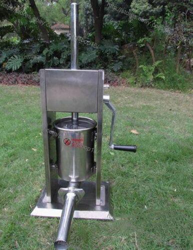 Manual 3L Stainless Steel Spanish Churros Machine Sausage Stuffer Filler Maker