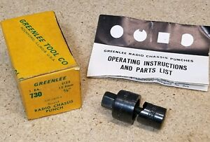 """Greenlee No. 730 -  5/8"""" diameter punch and die set - radio chassis punch"""