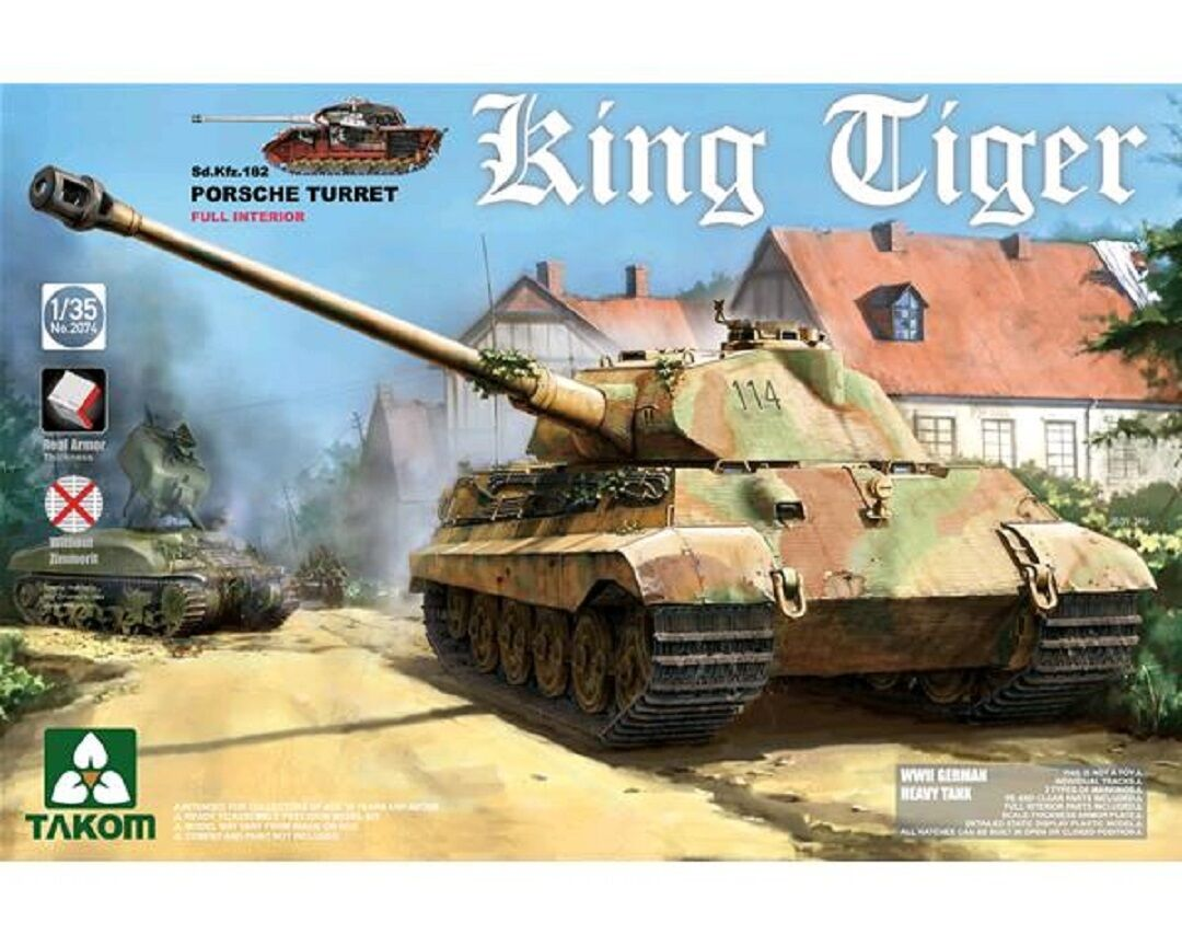 TAKOM GERMAN KING TIGER PORSCHE TURRET SD.KFZ.182  1 35 COD.2074