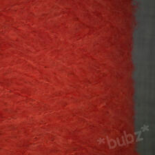 SUPER SOFT 4 PLY MOHAIR BLEND YARN STRAWBERRY RED 500g CONE 10 BALLS KNIT WOOL