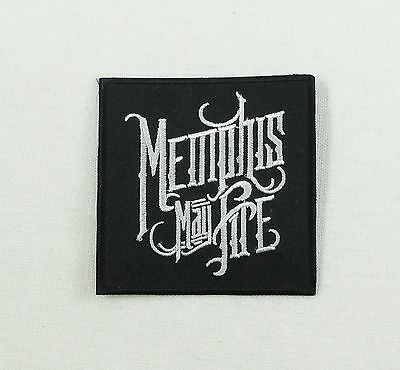 MEMPHIS MAY FIRE Iron On Sew On Embroidered Patch Metalcore Music Band