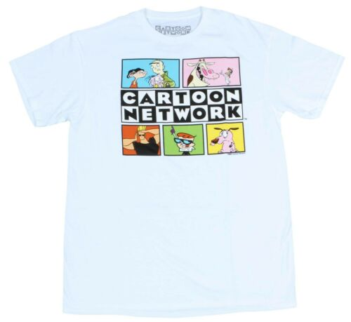 Mens Cartoon Network Throwback 90s Ren /& Stimpy Anime Dexters Lab T-Shirt Tee